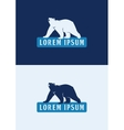 Polar bear logo template vector