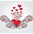 Grunge heart vector
