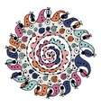 Colorful circle ornament for your design vector