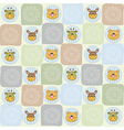Childish seamless pattern with animal toys vector