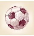 Soccer ball hand drawn llustration realistic vector