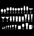Glass goblets black vector
