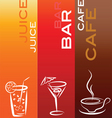 Drinks and refreshments vector