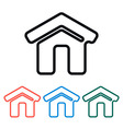 Simple home icon vector