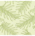 Green palm trees seamless pattern background with vector