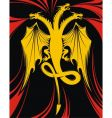 Dragon with three heads vector
