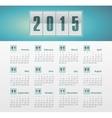 Calendar 2015 year with gradient vector