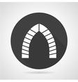Archway black round icon vector