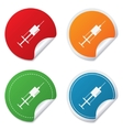 Syringe sign icon medicine symbol vector