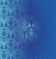 Retro background floral blue pattern vector