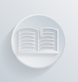 Circle icon with a shadow open book vector