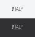 Alphabet italy design concept with flat sign vector