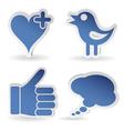 Set social media sticker vector