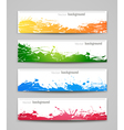 Set of colored backgrounds vector