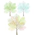 Stylized trees set vector
