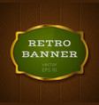 Banner on wooden background vector