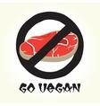 Go vegan meat vector