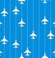 Seamless pattern with airplanes bakground vector