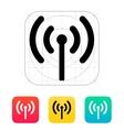 Radio antenna sending signal icon vector
