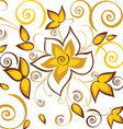 Seamless background with gold flowers vector