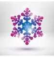 Abstract christmas snowflake vector