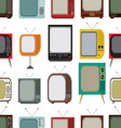 Retro tv seamless pattern resize vector