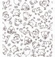 Easter chickens pattern vector