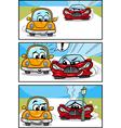 Cars cartoon comic story vector