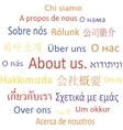 Tag cloud about us in different languages vector