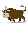 Bull furious vector