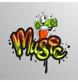 Graffiti word character print vector