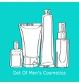 Set of mens cosmetics vector