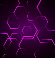 Abstract background with violet hexagon vector
