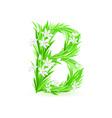 Spring flowers alphabet b vector