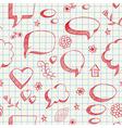 Speech bubbles skech seamless vector