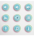 Mediaplayar buttons vector