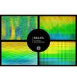 Brazil geometric blurred backgrounds set vector