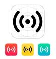 Radio waves icon vector