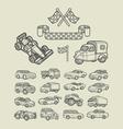 Car icons sketch vector