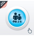 Board games sign icon 2-8 players symbol vector