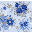 Vintage floral background - seamless pattern vector
