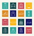 Set of flat man clothing icons vector