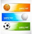Set of sport banners vector