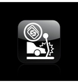 Car crash icon vector