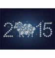Happy new year 2015 creative greeting card with sh vector