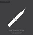 Knife premium icon white on dark background vector