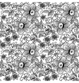 Many flowers bw seamless vector