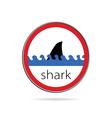 Sign of danger from sharks vector