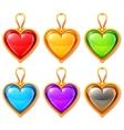 Heart pendants vector