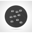 Climb wall black round icon vector